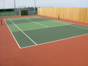 Tennis Court Resurface Brown Lees