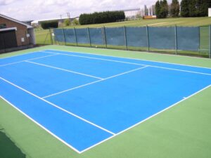 Tennis Court Surfaces Brown Lees