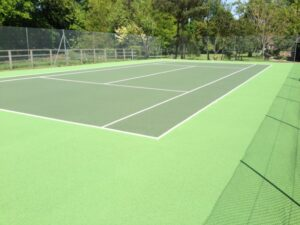 Tennis Court Flooring Wall End