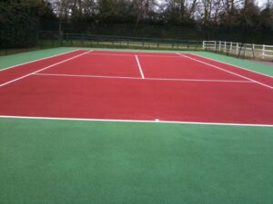 Tennis Court Designs Wall End