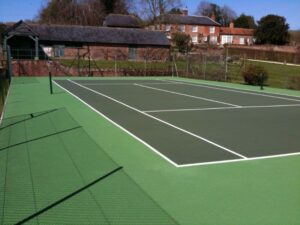 Tennis Facility Resurfacing Lletty Brongu