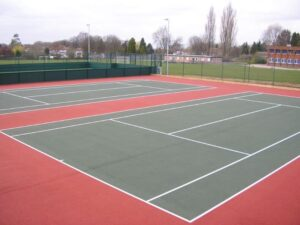Tennis Facility Surfacing Rhiwsaeson